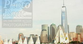 Sailboats and New York Skyline