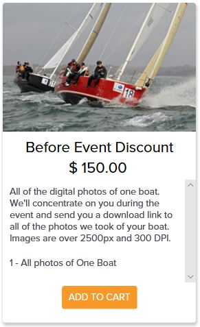 Before event discount